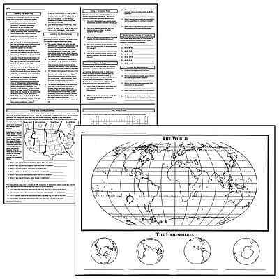 Basic Map Skills Activity Posters