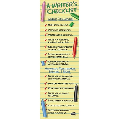 McDonald Publishing® Colossal Poster, A Writers Checklist