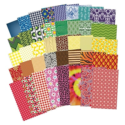 Roylco All Kinds of Fabric Design Papers, 200/pack (R-15289)
