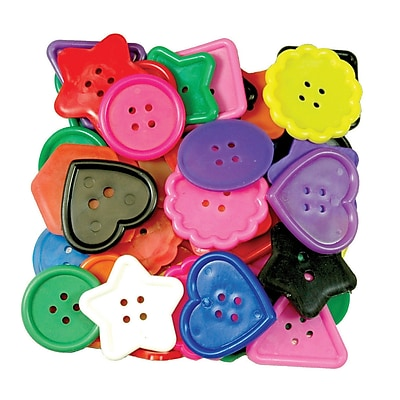 Roylco® Craft Accessories, Really Big Buttons™, 1 lb.