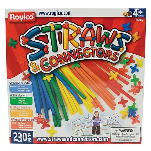 """Straws & Connectors® Multicolor, 10.25"""" x 10"""", 230 pieces"""