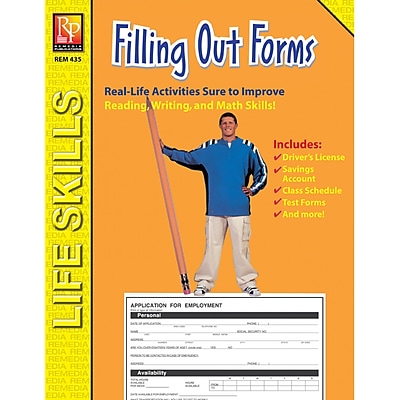 Remedia® Practical Practice Filling Out Forms Book, Grades 4th - High School, 2 EA/BD (REM435)