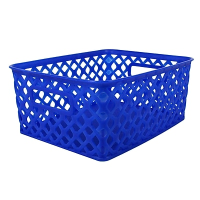 Romanoff Woven Basket, Small, Blue, Set of 3 (ROM74004)