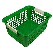 Romanoff Book Basket, Green, Set of 3 (ROM74905)