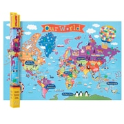 "Round World Products, World Map for Kids, 24"" x 36"" (RWPKM01)"
