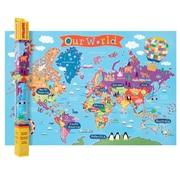 "Round World Products, World Map for Kids, 24"" x 36"" (RWPKM01)"