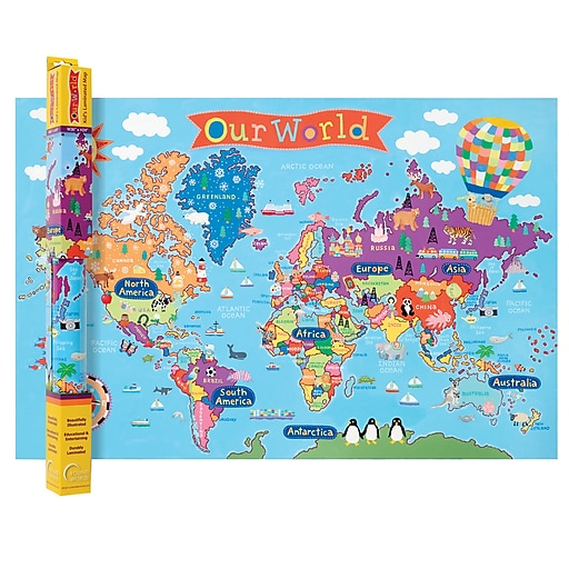 Round World Products, World Map for Kids, 24\