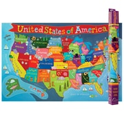 "Round World Products, United States Map for Kids, 24"" x 36"" (RWPKM02)"