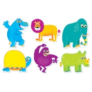 "Scholastic Jingle Jungle Animal Accents 36/pack, Assorted Colors, 8.85"" x 6.85"" (SC-553125)"