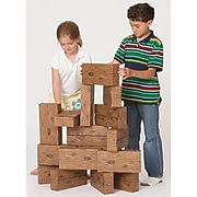 Smart Monkey Toys ImagiBRICKS Giant Timber Building Block Set, 16/Set (SMT5016)
