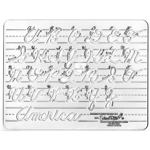 School-Rite® Handwriting Instruction Guides, Uppercase Cursive