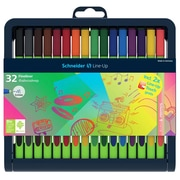 Schneider Line-Up, Fine Liner .4mm Pens, Assorted Colors, 32/Pk (STW191091)