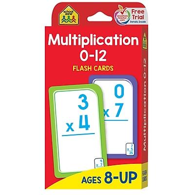School Zone® Flash Card, Multiplication 0 - 12 (SZP04008)