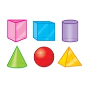 "Trend 3"" 3-D Shapes, Assorted Colors (T-10870)"