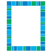 "Trend Stripe-Tacular Cool Blue Terrific Paper, bundle of 6, 50 sheets per pack, total of 300, 8.5"" x 11"" (T-11427)"