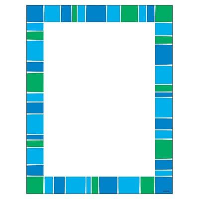 "Trend Stripe-Tacular Cool Blue Terrific Paper, bundle of 6, 50 sheets per pack, total of 300, 8.5"" x 11"" (T-11427)"