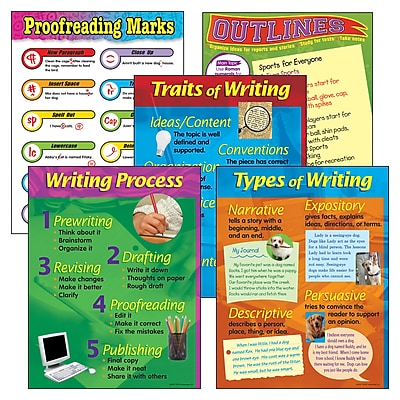 Trend® Learning Chart Combo Packs, Writing Essentials