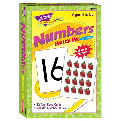 Trend® Match Me® Cards, Numbers 0-25