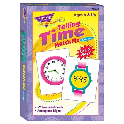 Trend® Match Me® Cards, Telling Time