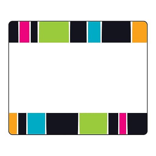 "Trend Stripe-tacular Groovy Terrific Labels™, 36 per pack, bundle of 6 packs, 3"" x 2 1/2"" (T-68045)"