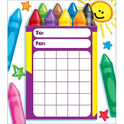 Trend® Colorful Crayons Incentive Pad, 36/Sheetss