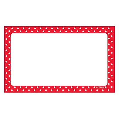 Trend Polka Dots Terrific Index Cards Blank, 3