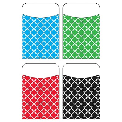Trend Moroccan Terrific Pockets Variety Pack 1 Pocket, Assorted, Bundle of 6, 40/pk total of 240 (T-77909)