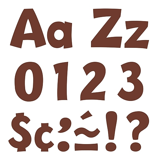 """Ready Letters 4"""" Chocolate Playful, Chocolate"""