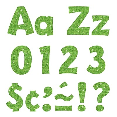 Trend 4in Ready Letters Lime Sparkle (T-79782)