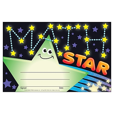 Awards, Math Star Recognition Awards, 30/Pkg