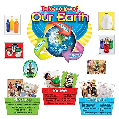 Trend® Bulletin Board Sets, Reduce, Reuse & Recycle