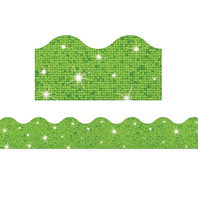 Trend Enterprises® Toddler - 6th Grade Terrific Trimmer, Solid Lime Sparkle, 10/Pack