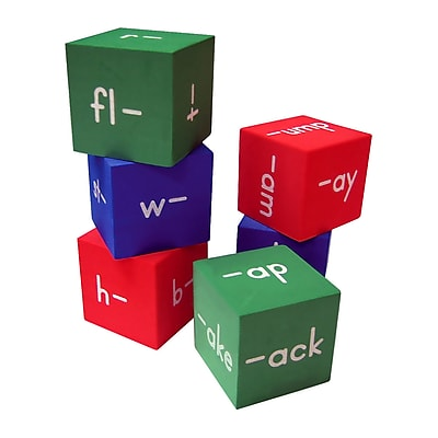 Teacher Created Resources Foam Word Families Cubes, Grade K - 4
