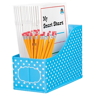 Teacher Created Resource Aqua Polka Dots Book Bin (TCR20786)