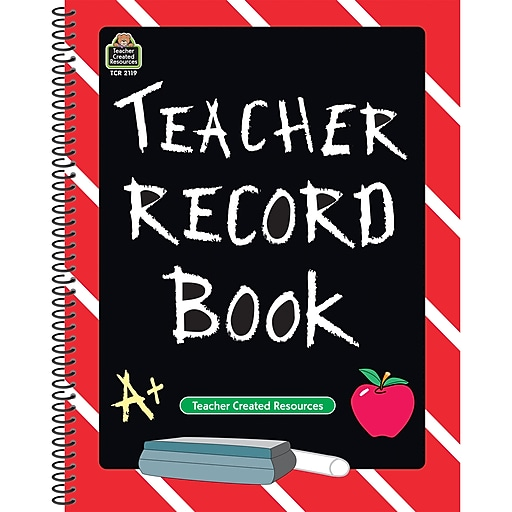 Teacher Created Resources® Chalkboard Teacher Record Book, Grades Kindergarten - 12th (TCR2119)
