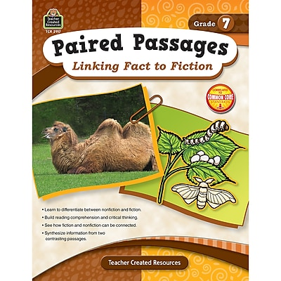 Paired Passages: Linking Fact to Fiction, Grade 7