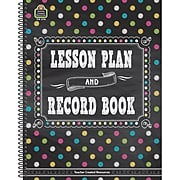 Teacher Created Resources Chalkboard Brights 160 Pages Lesson Planner and Record Book, Each (TCR3716)