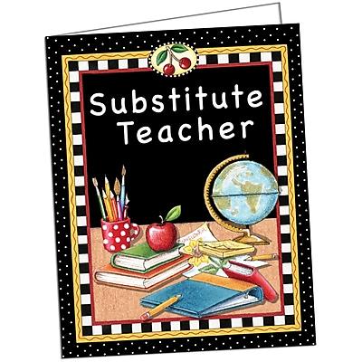 Mary Engelbreit Substitute Teacher Pocket Folder, 9 1/2