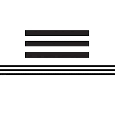 Teacher Created Resources® Black And White Stripes Straight Border Trim