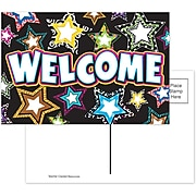 Teacher Created Resources Fancy Stars Welcome Smooth Personal Postcards, Multicolor, 30/Pack (TCR5225)
