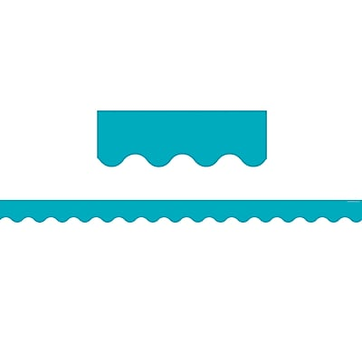 Teacher Created Resources Toddler - 12th Grade Border Trim, Solid Teal, 12/Pack
