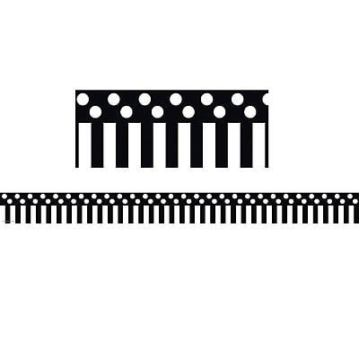 Teacher Created Resources Border Trim, Black/White Stripes & Polka Dots, Toddler - 12th Grade (TCR5501)