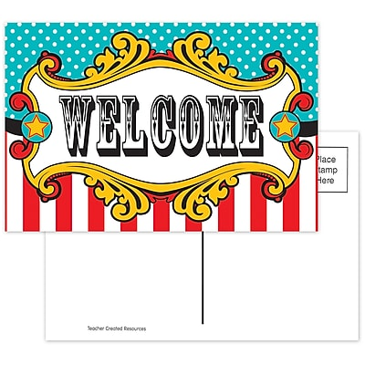 Teacher Created Resources Carnival Welcome Postcards, 4