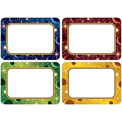Teacher Created Resources Stellar Space Name Tags/Labels Multi-Pack, Pack of 36 (TCR5854)