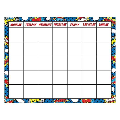 """17"""" by 22"""" Superhero Chart, Multicolor (TCR7569)"""