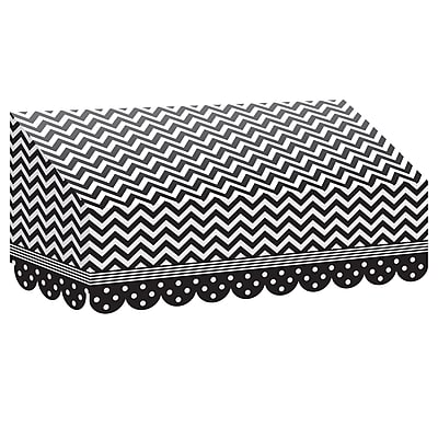 Teacher Created Resources Black & White Chevrons and Dots Awning (TCR77164)