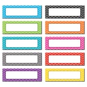 "Teacher Created Resource Chevron Labels Magnetic Accents, Assorted Colors, 4.75"" x 1.5"", 20 Pieces Per Pack (TCR77204)"