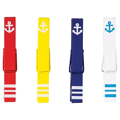 Teacher Created Resources Anchors Magnetic Clothespins, 20 Per Pack (TCR77250)