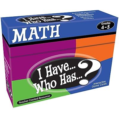 I Have...Who Has...? Math, Grades 4-5