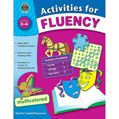 Teacher Created Resources Activities for Fluency Books, Grade 3-4